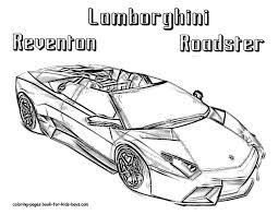 Free Printable Drawing Sheets Car Coloring Page Lamborghini