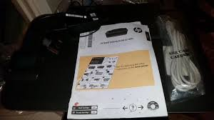black hp wifi printer scanner copier with spare cartridge