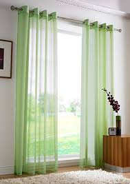 plain eyelet voile net curtains ring top ready made voile curtain panel lime green curtain