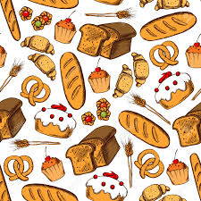 Bakery And Pastry Seamless Background Vector Pattern Wallpaper