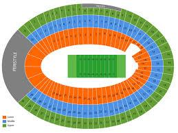 Usc Coliseum Seating Chart Los Angeles Memorial Coliseum Seating Chart And Tickets