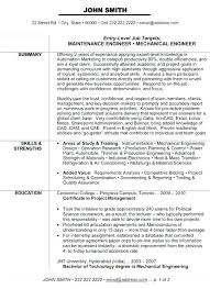 Sample Resume Mechanical Design Engineer For Engine 3 Spacesheep Co