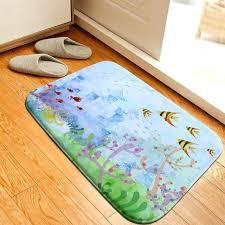 fish area rug ocean fish car carpet floor rug home decor pad flannel bedroom rugs doormat fish area rug