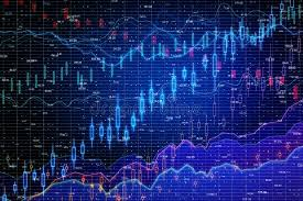 Blue Forex Chart Wallpaper Stock Photo Image Of Diagram