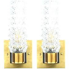 glass sconces stained candle wall replacement for candles pair lamps