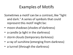 symbols and motifs differences similarities and how they  examples of motifs sometimes a motif can be a contrast like light and dark