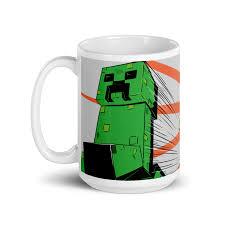 Minecraft Creeper Zoom White Mug ...