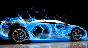 Lamborghini Blue Flame Wallpaper ...