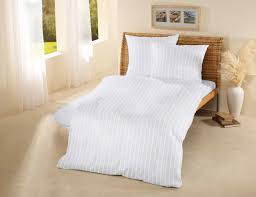 hotel organic cotton satin stripe duvet cover white