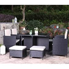 ufi 9 pieces patio dining sets