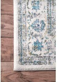 vintage pattern area rug nuloom verona blue 6 ft 7 in x 9 ft oriental carpet 5 5 of 6