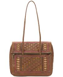 patricia nash carved lineage piola medium leather satchel 0