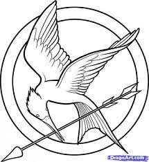Small Picture The Hunger Games Coloring Pages Logo Misc Pinterest Hunger