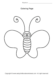 coloring pages insect coloring pages preschool free for and kindergarten erfly p