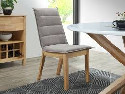 dining chairs modern dining furniture with upholstered fabric seat back hardwood timber legs myer