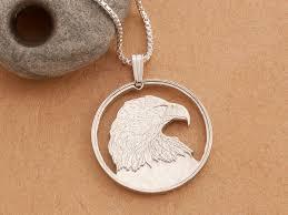 silver bald eagle pendant