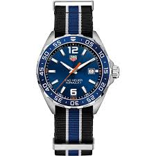 mens sports watches the watch gallery tag heuer formula 1 quartz stainless steel blue dial mens watch waz1010 fc8197