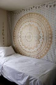 mandala tapestry flowers wall hanging