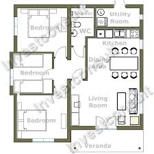 Impressive Small Three Endearing Small 3 Bedroom House Plans