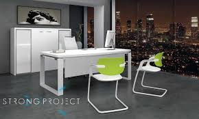 contemporary office desks. White Office Furniture Made Even More Irresistible With A Dash Of Apple Green. Contemporary Desks