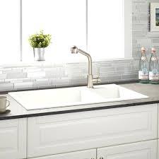white kitchen double sink evropazamlademe