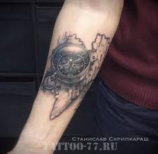 тату компас моряка