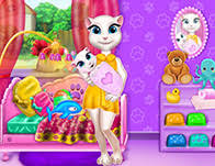 talking angela baby crib deco girl games