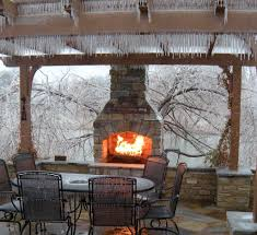 outdoor gas fireplace kits landscape