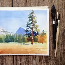 Watercolor Landscape Painting 5 Step Tutorial