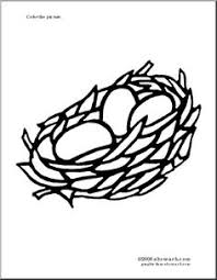 Small Picture Coloring Page of a Bird with Nest and Eggs Coloring Pages The
