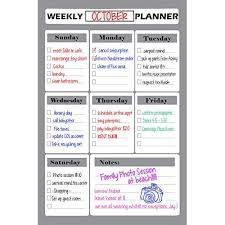 Chore Chart Staples 50 Off Dry Erase Weekly Calendar Planner 11x17 Inch