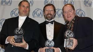 john lasseter steve jobs. Plain Steve Steve Jobs Ed Catmull Et John Lasseter Directeur Artistique De Pixar En  2002 Throughout Lasseter Jobs V