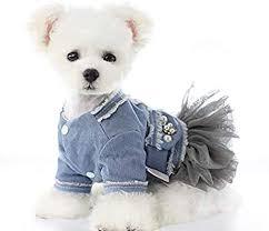 Amazon.co.jp: ICOUCHI <b>Pet Clothes</b>, Cute <b>Dress</b>, Denim, <b>Dog</b> ...