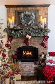 Elegant Christmas Fireplace Decor with Warm and Rustic Accent Pieces