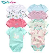 <b>8 PCS</b>/Set Short Sleeve <b>Baby Bodysuits</b> 100%Cotton Overalls ...