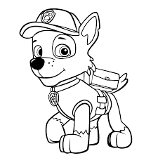 Paw Patrol Rocky Coloring Pages Printable