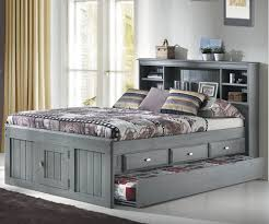 full bed with trundle. Delighful Bed Full Bookcase Captains Trundle Bed Image 1 With Bed