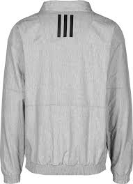 adidas windbreaker mens. adidas 1/2 zip wind jk windbreaker men - grey heather jackets \u0026 mens