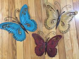 large metal butterfly wall art new nature inspired metal butterfly wall art trio indoor on nature inspired metal wall art with large metal butterfly wall art new nature inspired metal butterfly