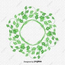 vector de marco redondo de hoja verde