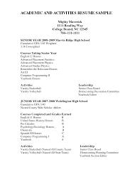 College Resume Template High School Senior Unique How to Write A High  School Resume for College