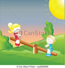 Small Picture Clipart Vector of Kids Playing in the Garden Creative Design Art