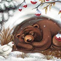 Оригинал - Схема вышивки «Медведь в берлоге» - Автор «poltanya» - Авторы -  Вышивка крестом