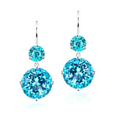 swiss blue topaz le limited edition double drop earrings with necklace costco
