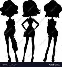 Silhouette Fashion Girls Top Models Vector Hoodamathrun