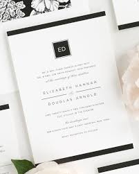 E Modern Glamour Wedding Invitations