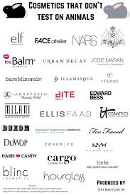 Animal Cruelty Charts Cruelty Free Make Up Brands Chart Ecogreenlove
