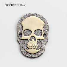 metal gold tone skull rivets charm diy for bag shoes jewelry making crafting garment sew on