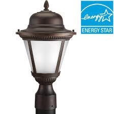 progress lighting westport collection 1 light antique bronze led outdoor post lantern