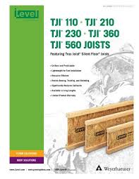 Tji 560 Span Chart Tji 110 210 230 360 And 560 Joist Specifiers Guide